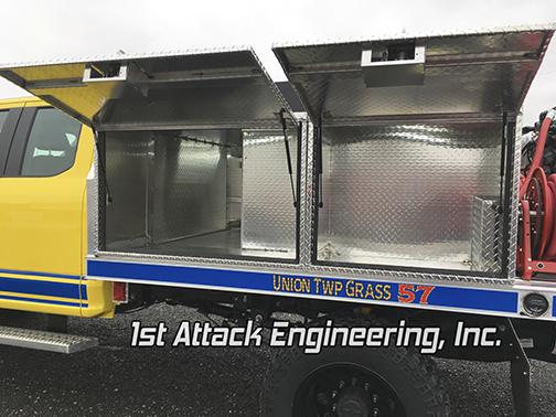 Aluminum Flatbed Brush Truck Storage Compartments
