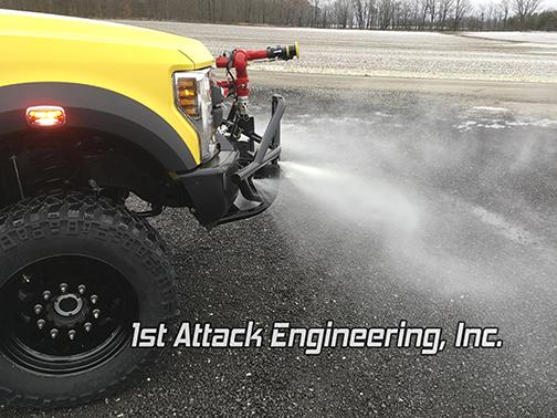 Aluminum Flatbed Brush Truck Ground Sweep Nozzles
