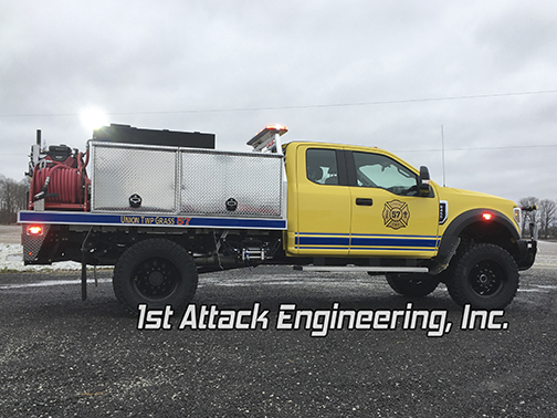 aluminum flatbed brush truck
