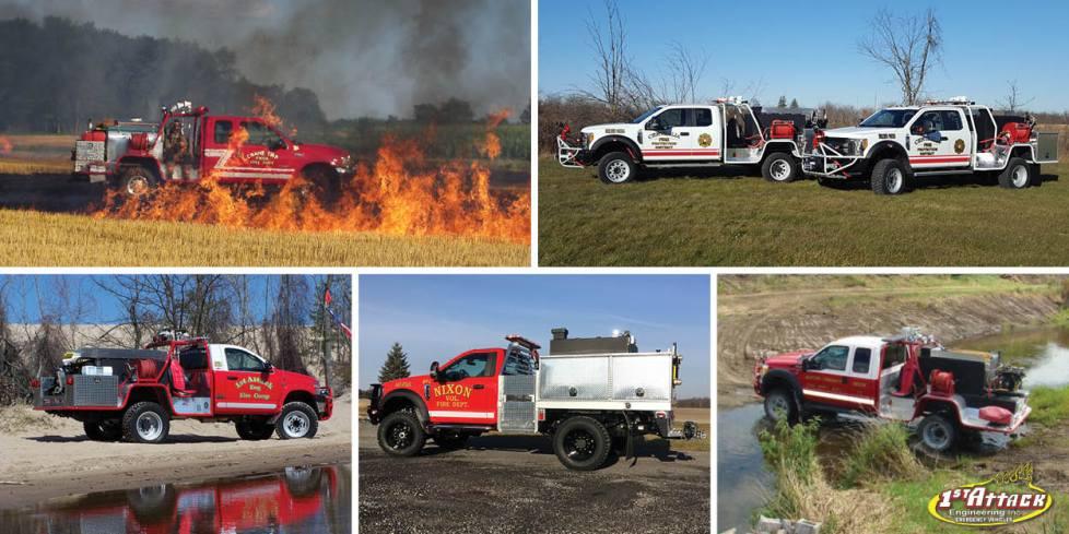 Emergency Off Road Vehicles Brush Fire Trucks