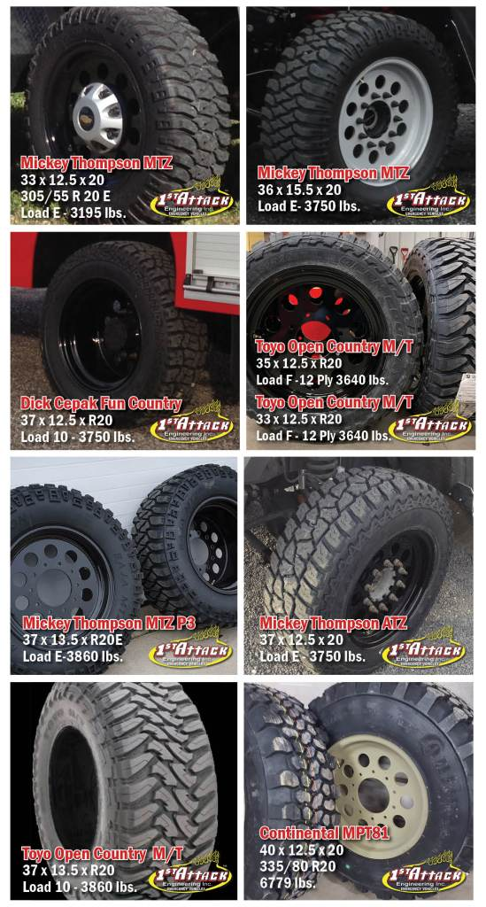 Mickey Thompson MTZ Toyo Open Country M/T Continental MPT 81 Ford F350 & F450 & F550 dually Dodge 4500 & 5500 dually Dodge 1 Ton dually Chevy 1 Ton dually Chevy GMC 4500 & 5500 dually