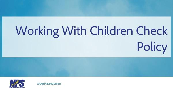 Policies: Working With Children Check Policy