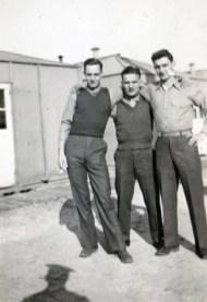 Edmond Piche, Dominick Piccolomini, and a third unknown Marine at New River.