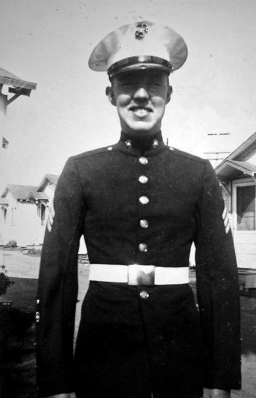 George Smith returned to the Marine Corps during the Korean War. He was promoted to sergeant and received a set of dress blues.