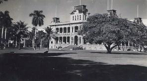 The Iolani Palace, residence of Hawaiian royalty, in Honolulu.