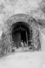 A bomb storage facility near the airfield, now occupied by Marines.