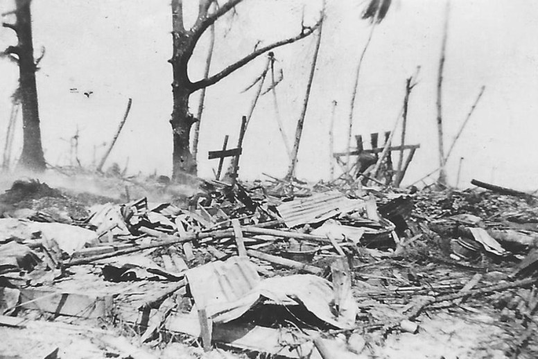 Curly augmented his photo collection with a few images of the destruction he witnessed on the islands.
