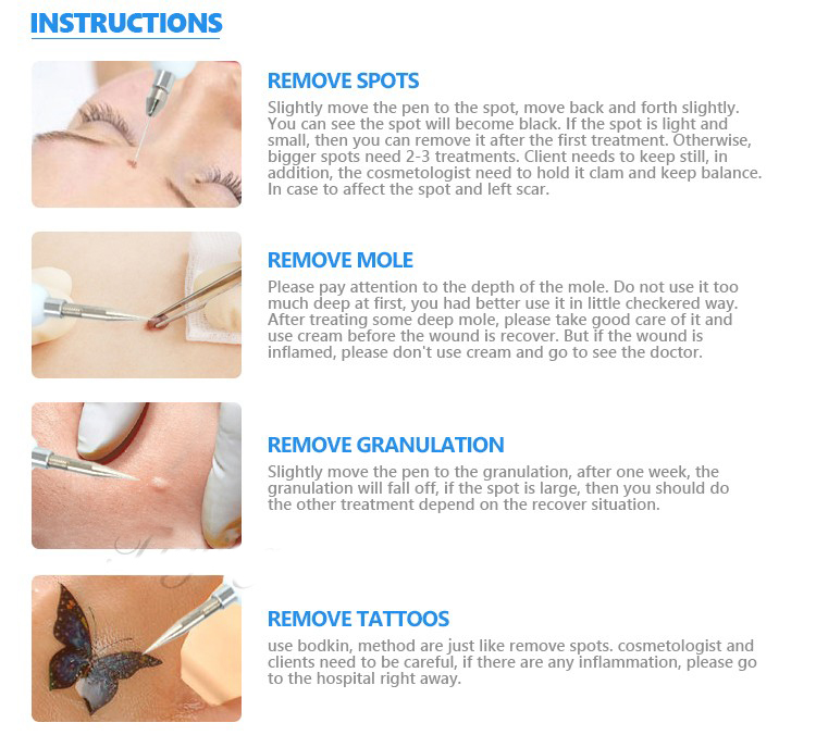 Laser Mole Tattoo Freckle Removal Pen Sweep Spot Mole Removing Point Pens Wart Dark Spot Remover Salon Beauty Machine Skin Care