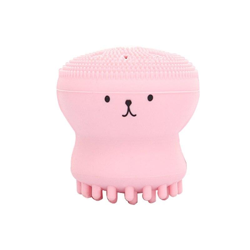 Silicone Small Octopus Wash Brush Silicone Beauty Cleaning Brush Small Octopus Cleansing Instrument Silicone Wash Face