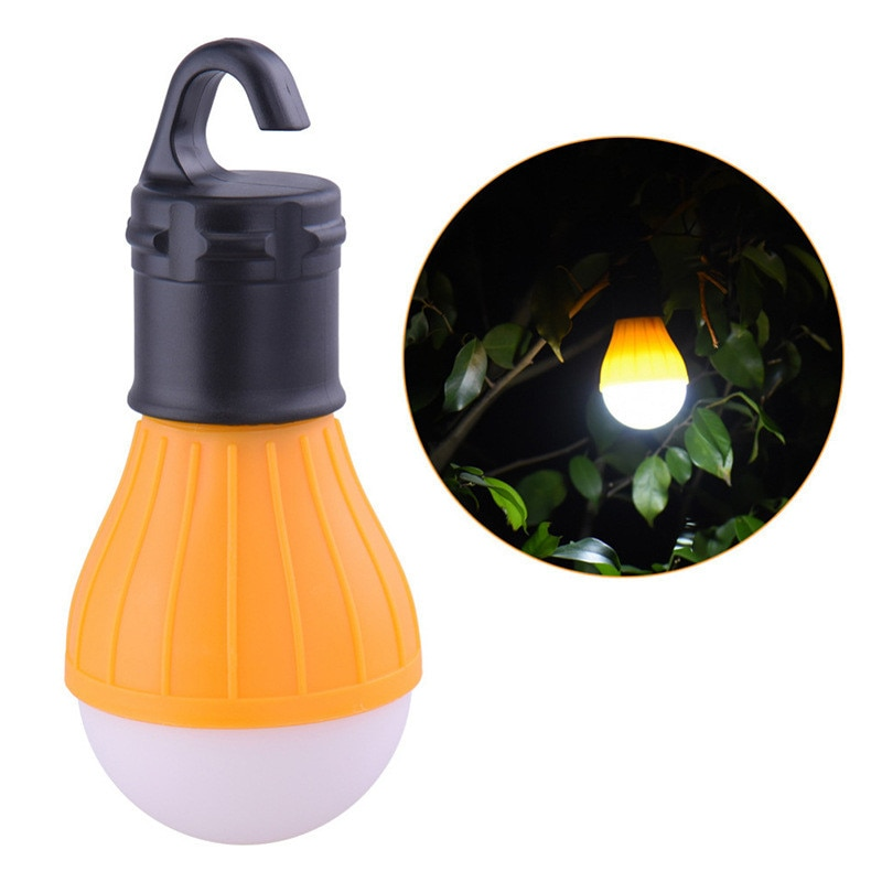 Outdoor Camping Equipment Lantern Tent Light Mini Portable LED Bulb Emergency Hiking Fishing Hanging Hook Flashlight 4 Color
