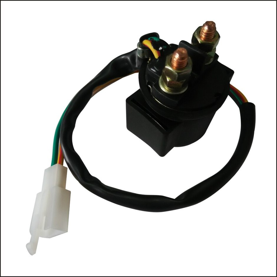 Motorcycle Starter Relay Solenoid for ATV 50cc 125cc 150cc 250cc GY6 Motorbike Accessories Automobiles Ignition Auto Parts