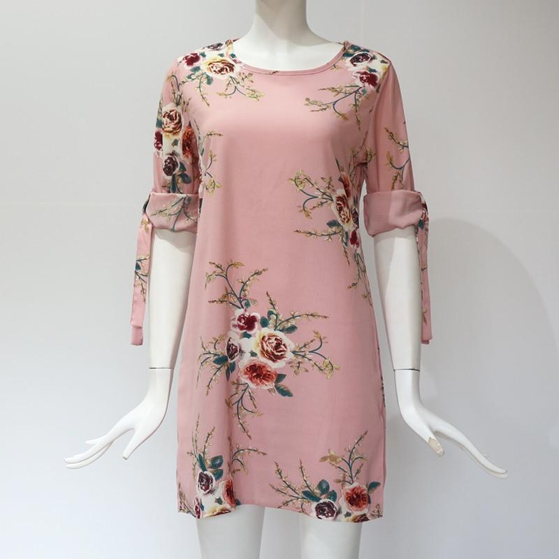 Women's Loose Floral Printed Summer Dress