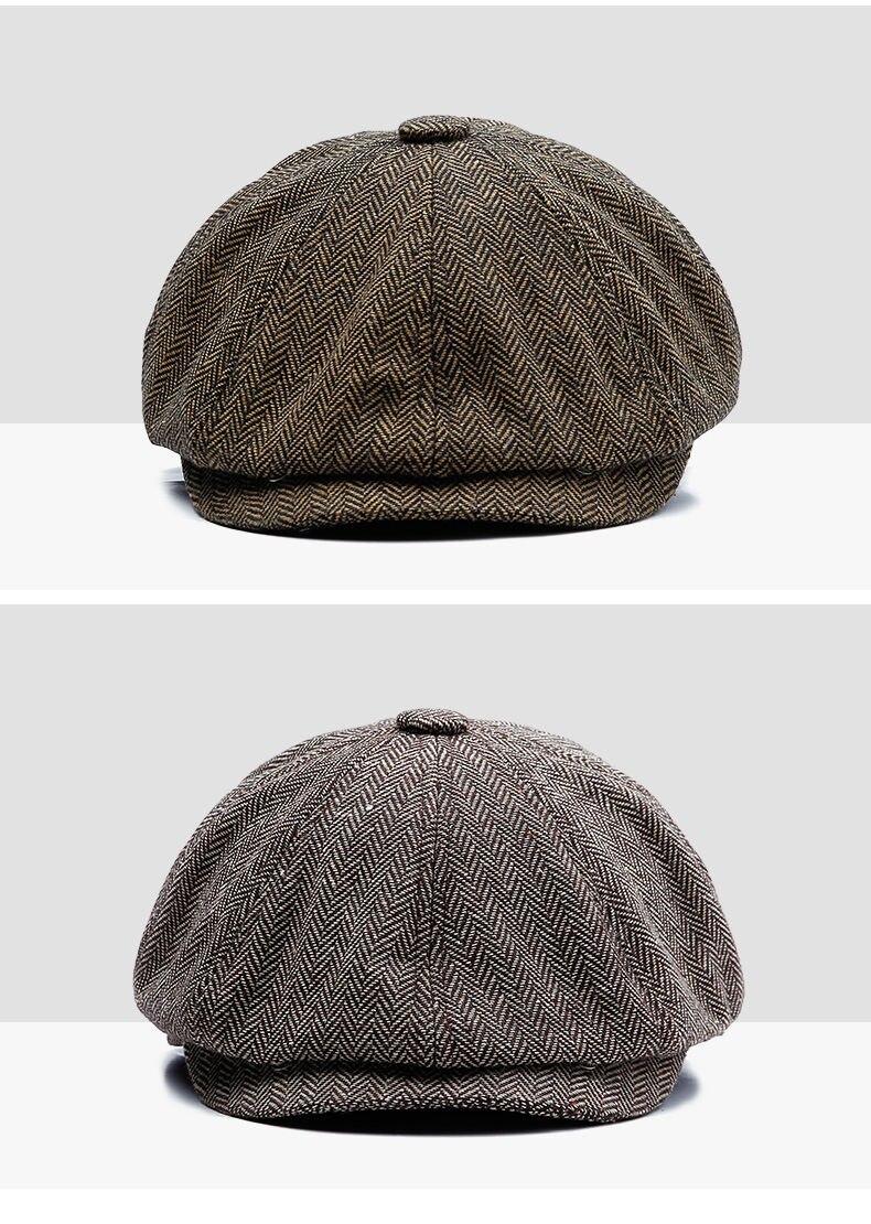 Men's Fashion Autumn Tweed Cap