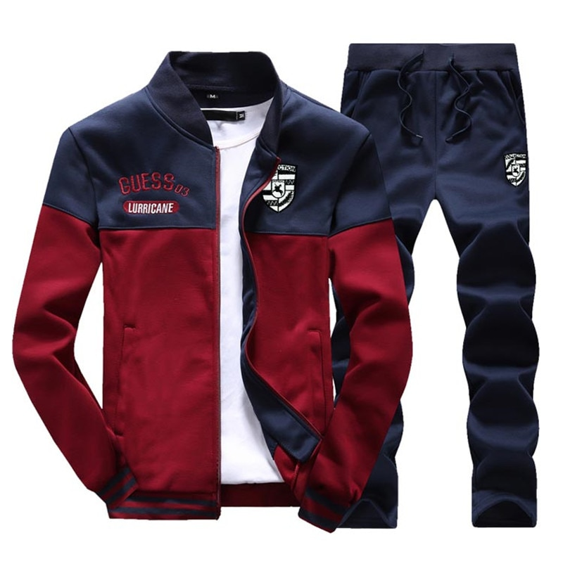 Sweatshirt & Sweatpants 2 Pieces Men's Tracksuit
