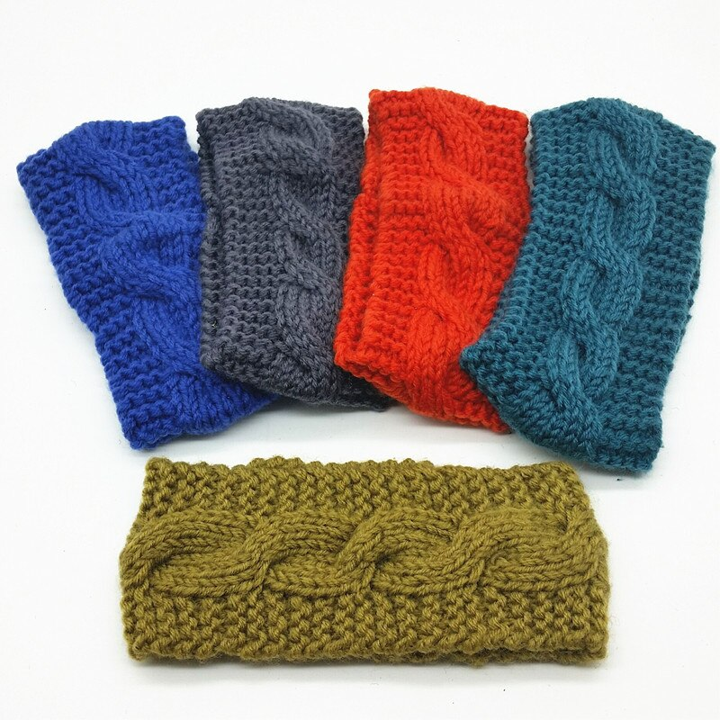 Women's Wool Crochet Turban Headband Winter Warm Elastic Hairband Head Wrap Bandage Headbands Headwear Girls Hair Accessories