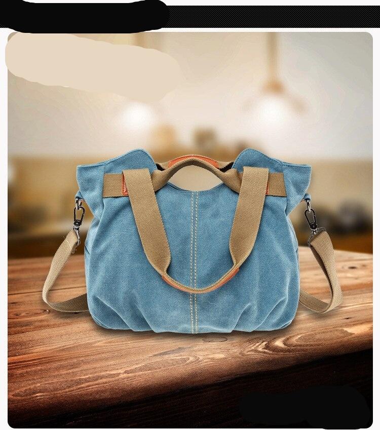 KVKY Brand Hot Fold Casual Tote Women's Handbag Shoulder Crossbody Bags Canvas High Capacity Bag for Women Female bolsa feminina
