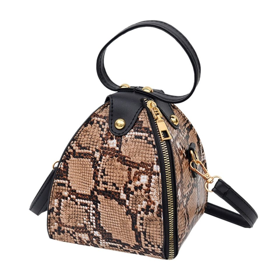 Fashion Women's Mini Handbag Trend Large Capacity Snake Print Leather Purse Shoulder Bag Female Luxury Women Messenger Bags Flap