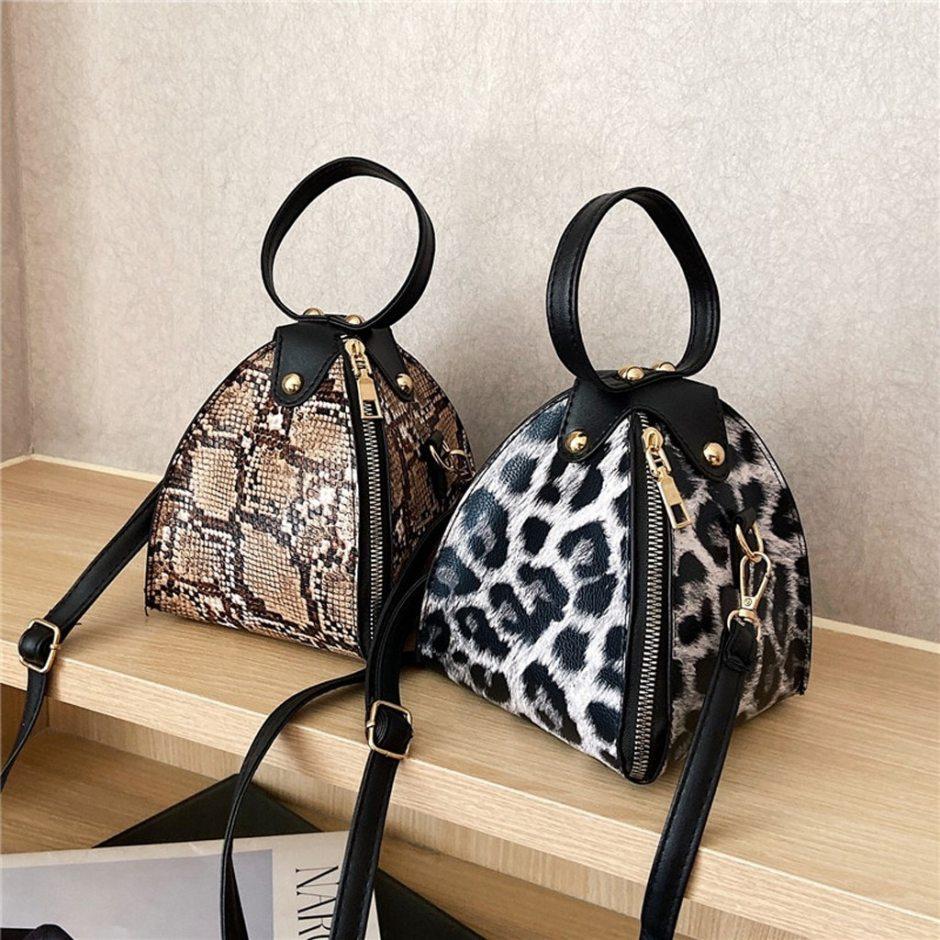 Fashion Women's Mini Handbag Trend Large Capacity Snake Print Leather Purse Shoulder Bag Female Luxury Women Messenger Bags Flap