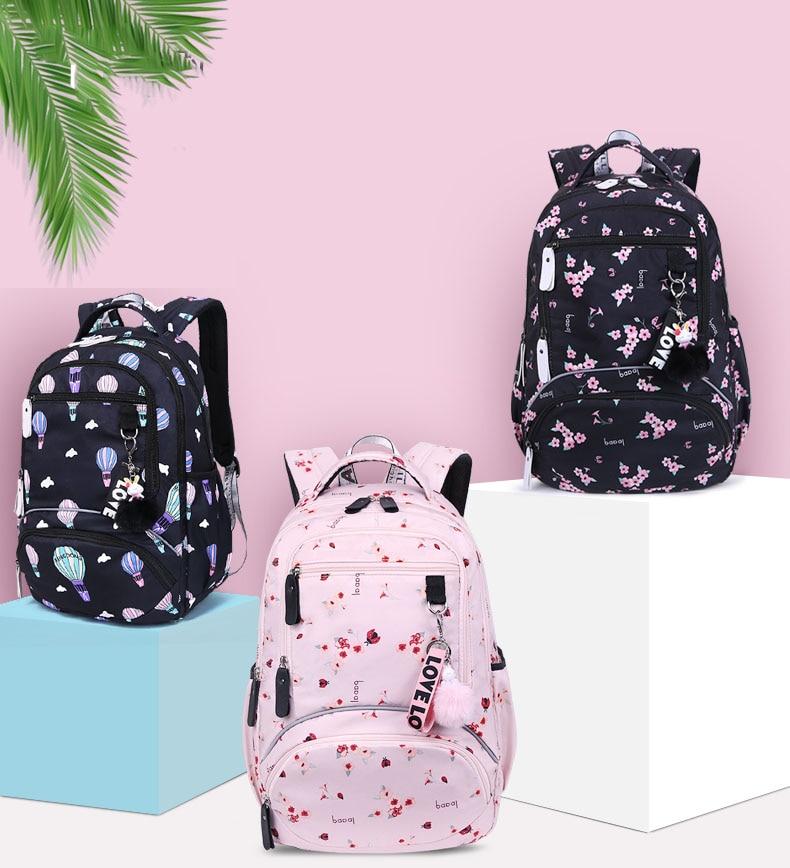 New Large schoolbag cute Student School Backpack Printed Waterproof bagpack primary school book bags for teenage girls kids