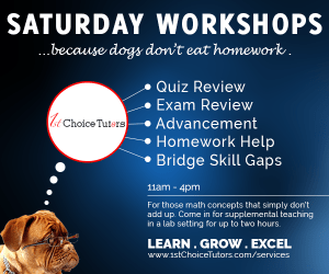 1stChoice Tutors Saturday Workshops Flyer