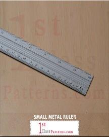 SMALL METAL RULER