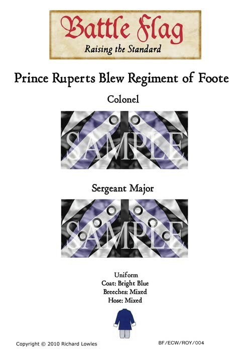 ECWROY004 Prince Rupert's Blew Reiment of Foote