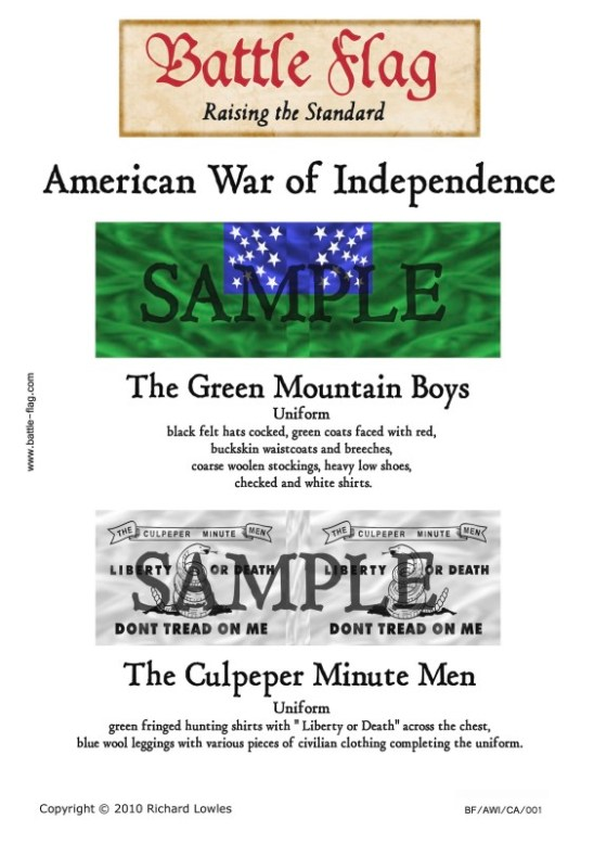 AWI/CA/001 The Green Mountain Boys