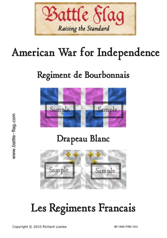 AWI/FRE/002 Regiment de Bourbonnais