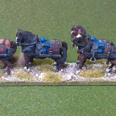 Limber and horse team (kepi at rest)