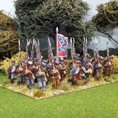 28mm american civil war marching wearing kepi