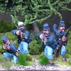 28mm American Civil War Firing line in kepi