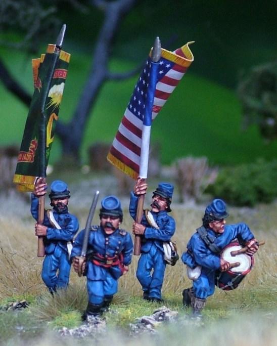 Command in kepi.Marching/firing line