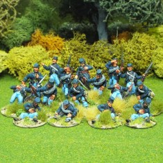 28mm american acw casualties wearing kepi