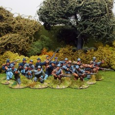 28mm american civil war skirmish line in kepi
