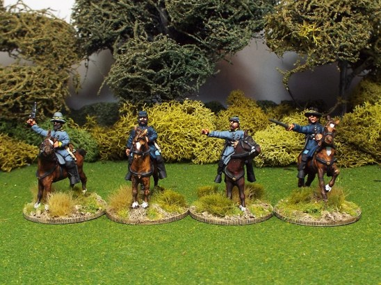 28mm american civil war mounted officers
