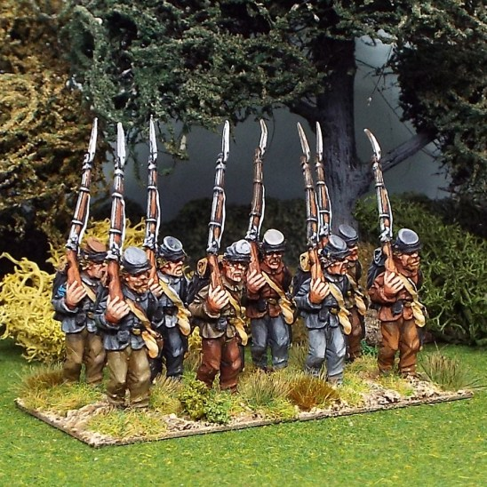 28mm american civil war marching wearing kepi
