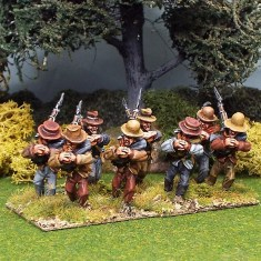 28mm american civil war right shoulder shift wearing assorted slouch hats