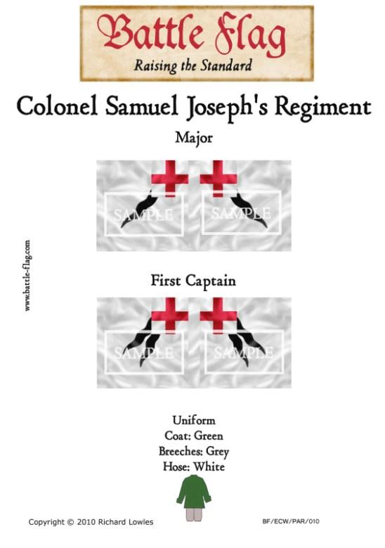 ECW/PAR/010 (B) Colonel Samuel Joseph's Regimente of Foote Majo