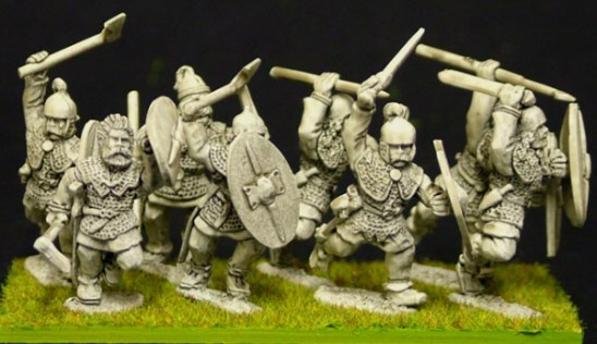 28mm Celt or gaul Noble warriors with mixed weapons