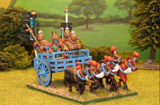 28mm Ancient Chinese Emperor in 4 horse chariot.