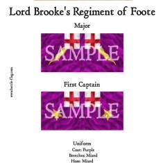 ECW/PAR/015 (A) Lord Brooke's Regiment of Foote