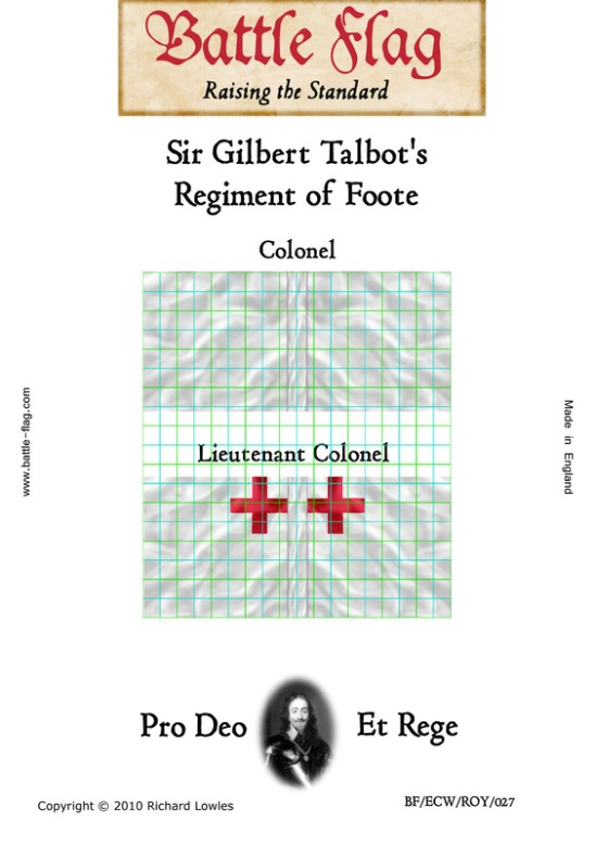 ECWROY027 Sir Gilbert Talbot's Regiment of Foote