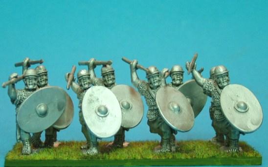 Auxilia,light pila & oval shield