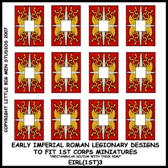 Early Imperial Roman Legionary Shield Transfers