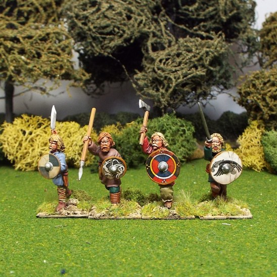 28mm early saxon geoguth warriors
