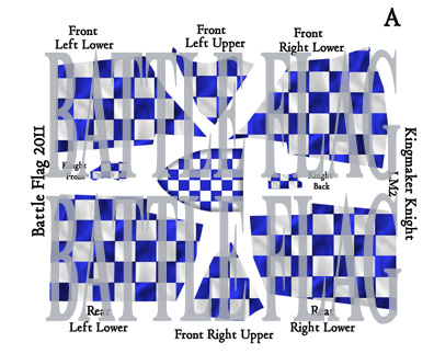 Blue and white check