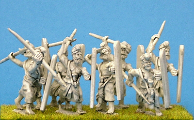 Ancient Indian Skirmishers with long shield
