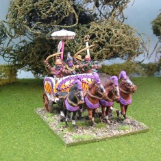 ancient indian 4 horse chariot