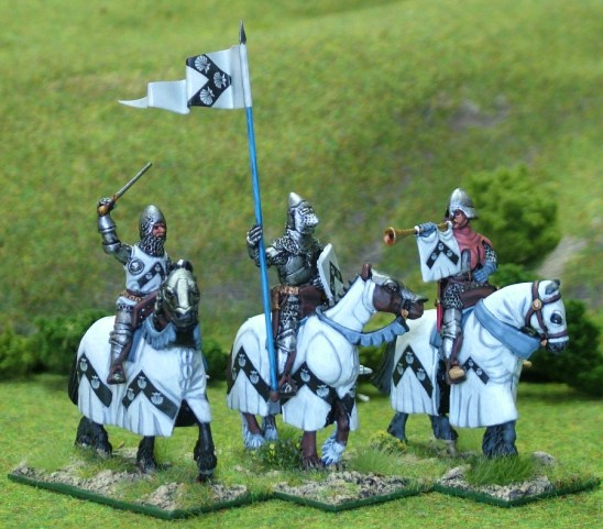 Mounted Knights Cmnd II barded horses