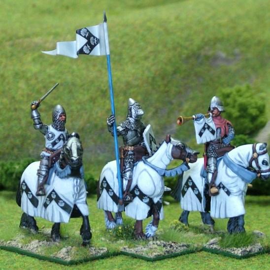 Mounted Knights Cmnd II barded horses